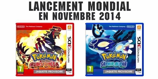 Jeux Vidéo » Pokemon Rubis Omega et Pokemon Saphir Alpha annoncés