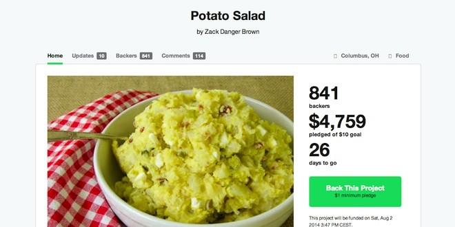 Insolite : une salade de pomme de terre fait le buzz sur Kickstarter