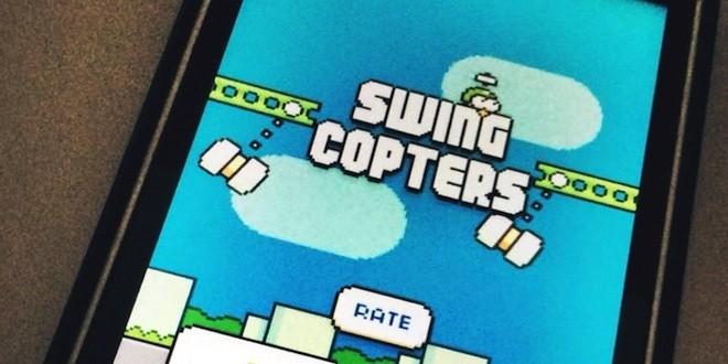 Swing Copters, le nouveau jeu du créateur de Flappy Bird