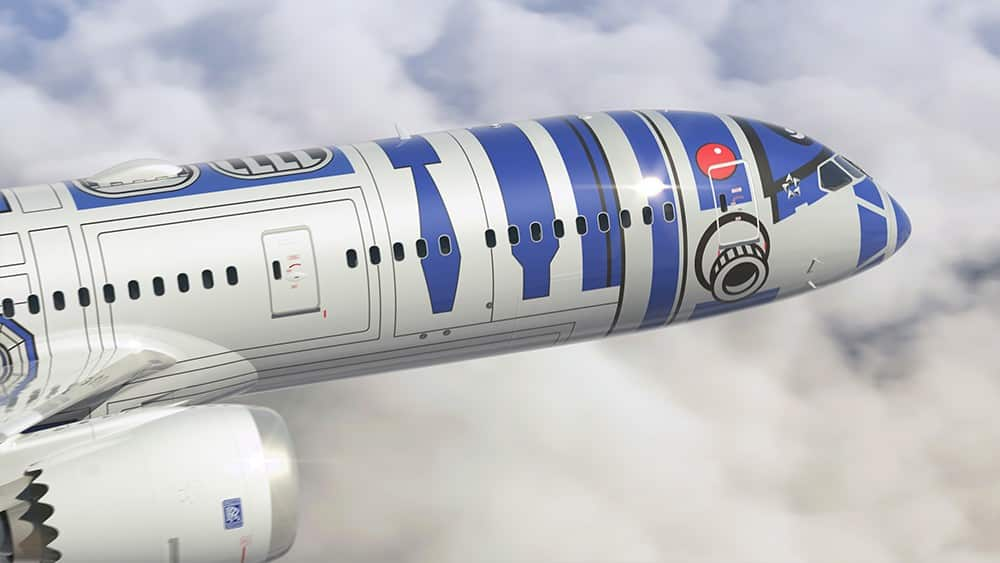 Un avion Star Wars aux couleurs de R2-D2