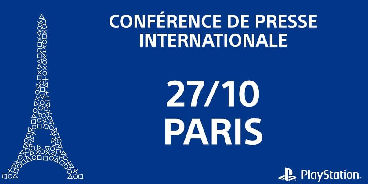 Paris Games Week : une conférence Sony PlayStation est prévue