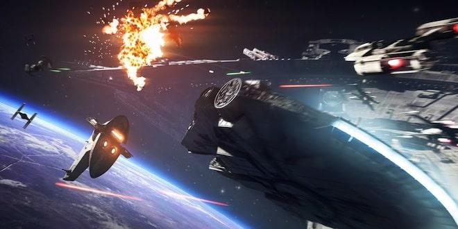 Star Wars Battlefront II: les combats spatiaux en vidéo