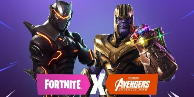 Thanos et le gant de l'infini sont dans Fortnite