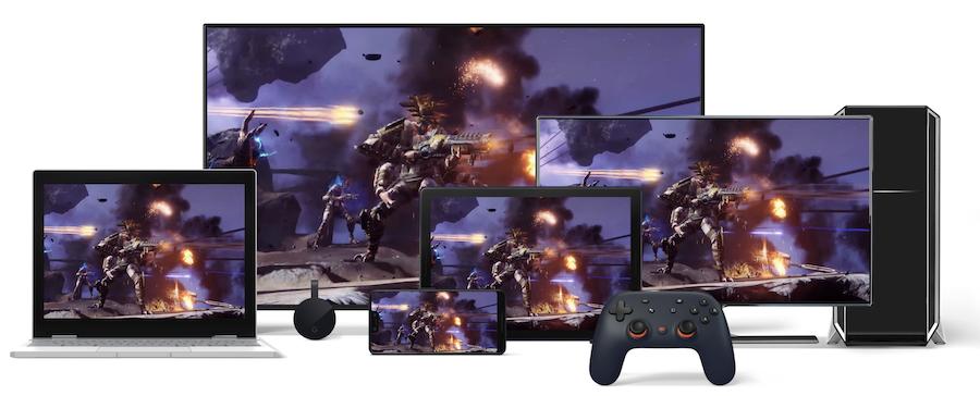 Stadia promet la même expérience sur PC, TV, Tablette, Ordi portable et smartphone.